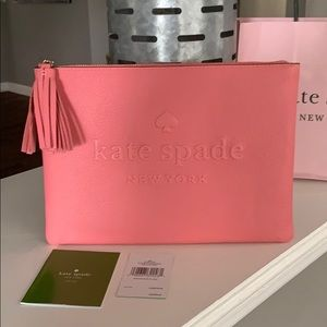 NWT Authentic Kate Spade leather Clutch